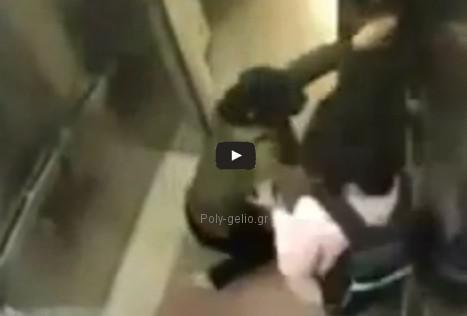 Δείτε τι έπαθε ο επίδοξος βιαστής στο ασανσέρ...