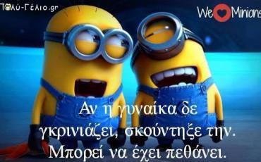 Minions Greek - Αν η Γυναίκα σου δεν Γκρινιάζει...