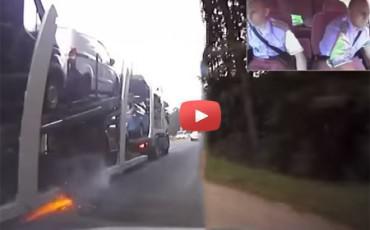 Κυνηγητό Αστυνομίας - Νταλίκας με απίστευτο πιστολίδι!!!