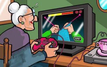 Αστεία Εικόνα: Η Γιαγιά μας πλέκει