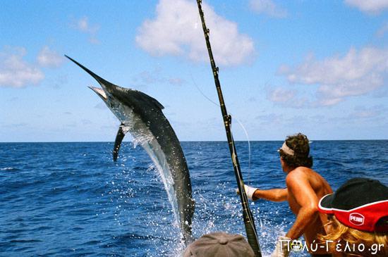 Ψαρεύει ένας παππούς δίπλα σε ένα 20άρη. Ο παππούς είναι τίγκα στο ψάρι ενώ.....